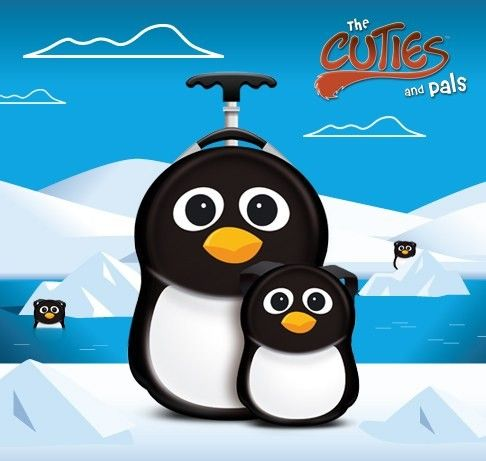 Valiza tip trolley si ghiozdan Peko the Penguin - Cuties and Pals