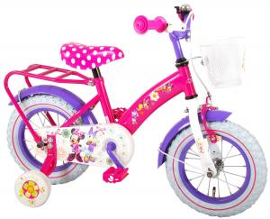 Bicicleta E&L Minnie Mouse 12 inch cu portbagaj [0]