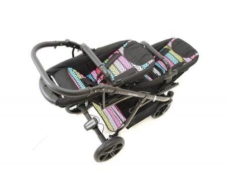 Carucior copii gemeni tandem 3 in 1 PJ STROLLER Lux Multicolor [9]