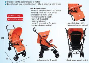 Carucior copii sport umbrela C-106 Primii Pasi1