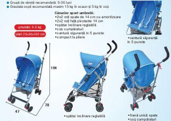 Carucior copii sport umbrela C-108 Primii Pasi4