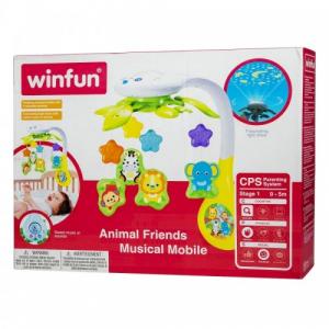 Carusel muzical cu proiector Zoo Winfun [4]