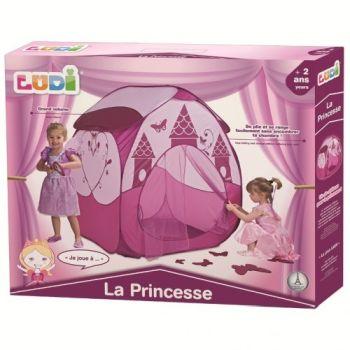 Cort joaca PRINTESA roz inchis - Ludi1