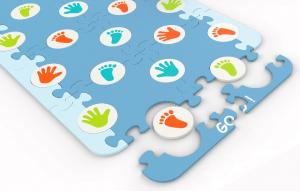 Covor puzzle din spuma Evolution 66 piese - Knorrtoys [1]