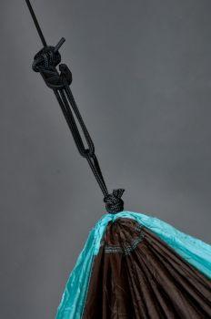 Hamac drumetie 2 persoane Colibri BLUE+accesorii fixare - La Siesta5