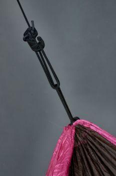 Hamac drumetie 2 persoane Colibri Roz+accesorii fixare - La Siesta2