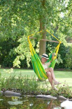Hamac scaun Sonrisa Basic lime - La Siesta0