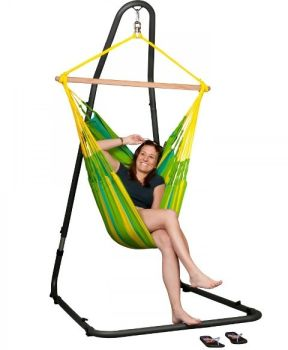 Hamac scaun Sonrisa Basic lime - La Siesta8