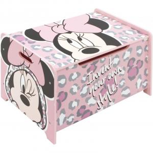 Ladita din lemn pentru depozitare jucarii Minnie Mouse0