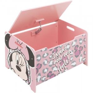 Ladita din lemn pentru depozitare jucarii Minnie Mouse2