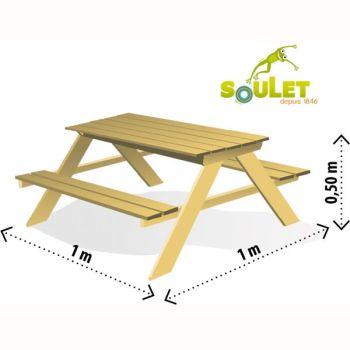Masa cu bancute si lada de nisip Table Sable - Soulet3