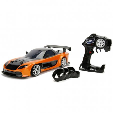 Masina Jada Toys Fast and Furious Mazda RX-7 Drift cu anvelope si telecomanda [0]