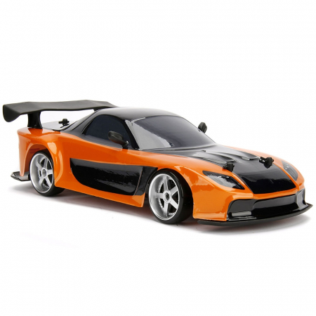 Masina Jada Toys Fast and Furious Mazda RX-7 Drift cu anvelope si telecomanda [6]