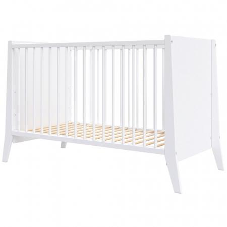 Patut copii din lemn Hubners Cosmo 120x60 cm alb [0]