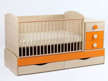 Patut copii transformabil Silence orange - My Kids0