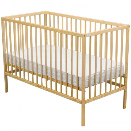 Patut din lemn Maks 120x60 cm Natur - BabyNeeds [0]
