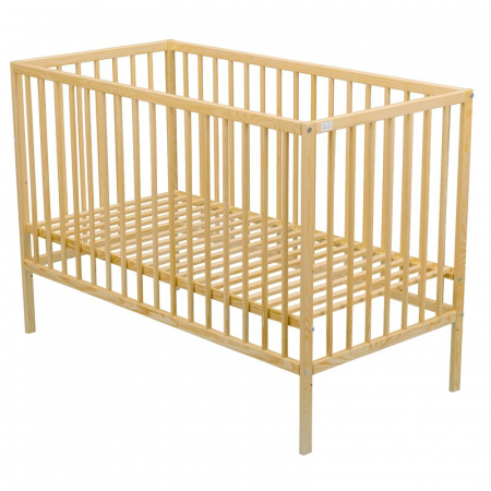 Patut din lemn Maks 120x60 cm Natur + Saltea 8 cm - BabyNeeds [1]