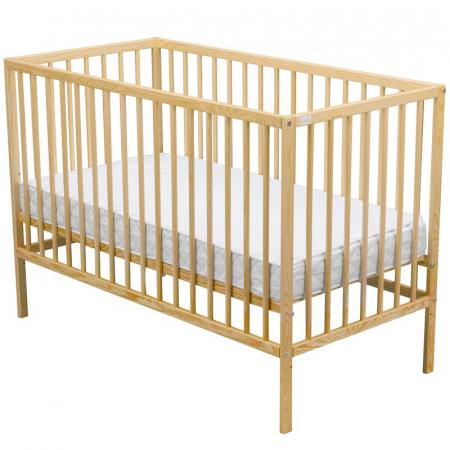 Patut din lemn Maks 120x60 cm Natur + Saltea 8 cm - BabyNeeds [5]