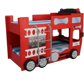 Patut tineret copii Fire Truck Double - Plastiko
