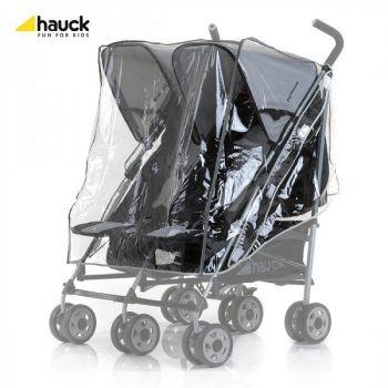 Pelerina ploaie Hauck pentru carucioarele Shopper Duo,Turbo Duo, Roadster Duo0