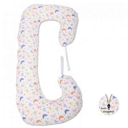 Perna 3 in 1 pentru gravide si bebelusi Soft Plus Fluturasi Multicolor - BabyNeeds [0]