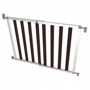 Poarta de siguranta extensibila din aluminiu si lemn Noma IKON NOIR, 62 - 104 cm, N94085 [0]