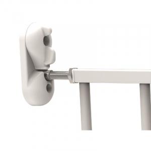 Poarta de siguranta extensibila Noma, 62-102 cm, metal alb, N93361 [2]