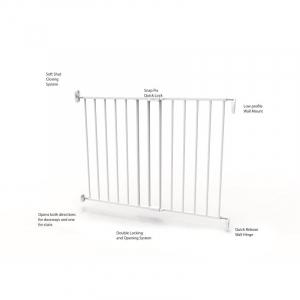 Poarta de siguranta extensibila Noma, 62-102 cm, metal alb, N93361 [7]