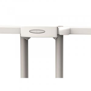 Poarta de siguranta extensibila Noma, 62-102 cm, metal alb, N93361 [1]