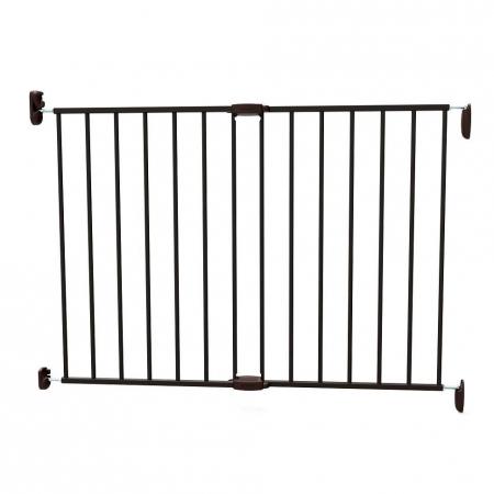 Poarta de siguranta extensibila Noma, 62 - 102 cm, metal negru, N933300