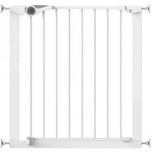 Poarta de siguranta Noma Easy Fit, presiune, 75-82 cm, metal alb, N93439 [0]