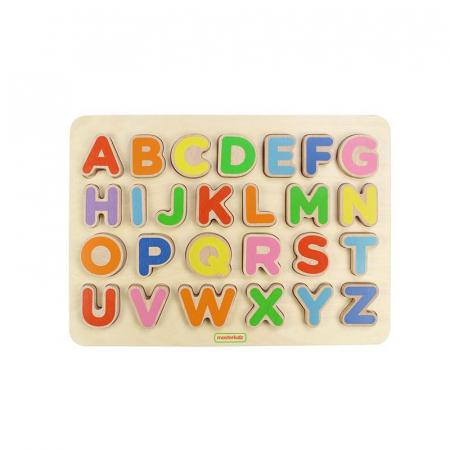 Puzzle 3D alfabet litere mari, din lemn, +3 ani, Masterkidz0