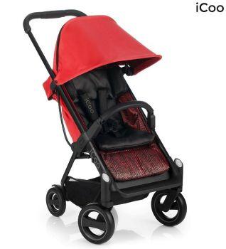 Set Carucior Acrobat Shop'n Drive Fishbone Red - Icoo2