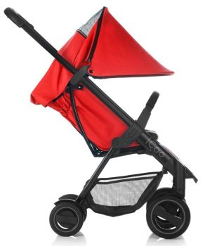 Set Carucior Acrobat Shop'n Drive Fishbone Red - Icoo11
