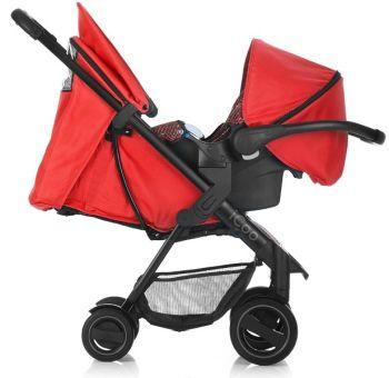 Set Carucior Acrobat Shop'n Drive Fishbone Red - Icoo18