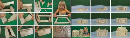 Set constructie arhitectura Vario Massive, 209 piese mari din lemn, Walachia2