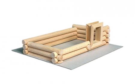 Set constructie arhitectura Vario Suitcase, 72 piese din lemn, Walachia2