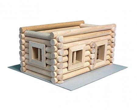 Set constructie arhitectura Vario Suitcase, 72 piese din lemn, Walachia5
