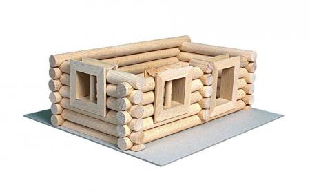 Set constructie arhitectura Vario Suitcase, 72 piese din lemn, Walachia4