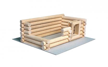 Set constructie arhitectura Vario Suitcase, 72 piese din lemn, Walachia3