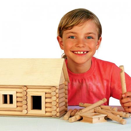 Set constructie arhitectura Vario Suitcase, 72 piese din lemn, Walachia14