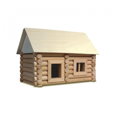 Set constructie arhitectura Vario Suitcase, 72 piese din lemn, Walachia8