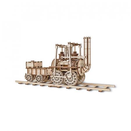 Set constructie cu mecanism Puzzle 3D LOCOMOTION din lemn 325 piese @ EWA3