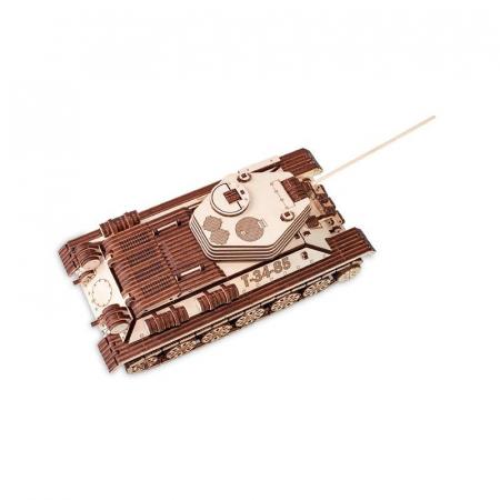 Set constructie cu mecanism Puzzle 3D TANK T-34-85 din lemn 965 piese @ EWA0