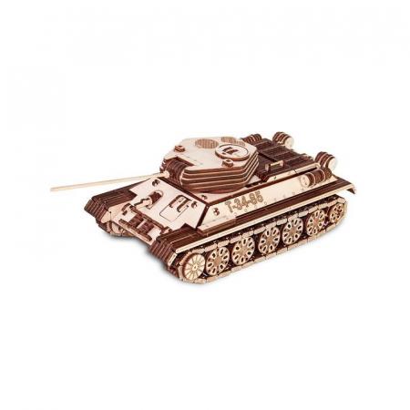 Set constructie cu mecanism Puzzle 3D TANK T-34-85 din lemn 965 piese @ EWA6