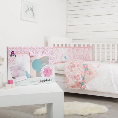 Set de pat 2 piese pentru bebelusi Comfi-Dreams Lovebirds 8430222