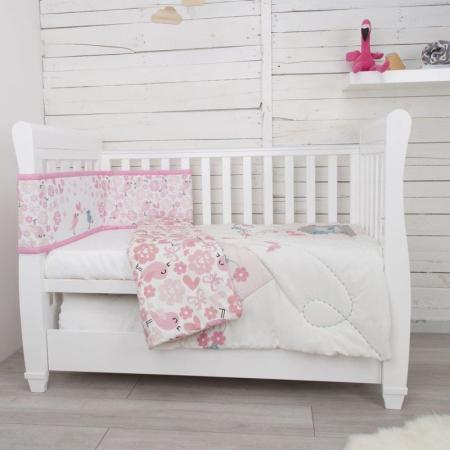 Set de pat 2 piese pentru bebelusi Comfi-Dreams Lovebirds 8430223