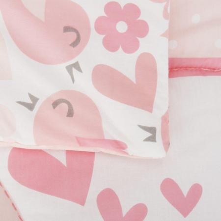 Set de pat 2 piese pentru bebelusi Comfi-Dreams Lovebirds 8430224