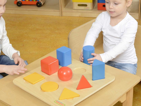 Set educativ forme si corpuri geometrice, din lemn, +2 ani, Masterkidz, pentru gradinite4