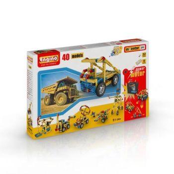 Set inginerie 40 modele cu motor Engino1